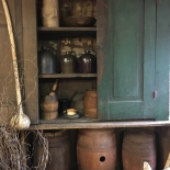 old farm cupboard