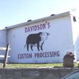 Davidsons Meat Processing sign