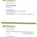 SHAKLEE business cards