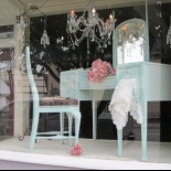 storefront with an old tea table