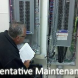 guy looking at breaker boxes