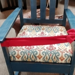 chair with ribbon