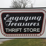 engaging treasures sign
