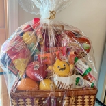gift basket in shrink wrap