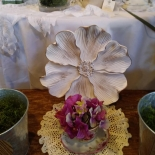 teacup and plate flowers