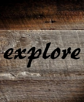 wood pallet with the word explore on it