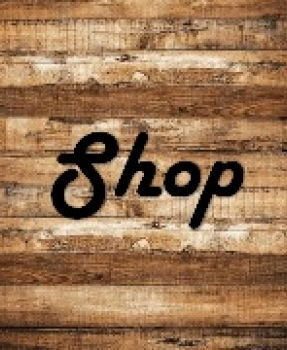 the word shop on wood pallet